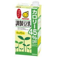 調製豆乳 カロリー45%オフ 1000ml×6本入