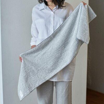 dailyオリジナルlongフェイスタオル(泉州タオル)2枚セット(グレー/ベージュ)35×120センチ