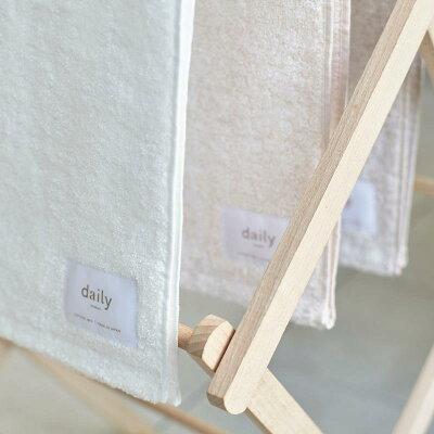 daily/フェイスタオル(泉州タオル)3枚セットホワイトピンクベージュ一枚約100g35cm×85cm