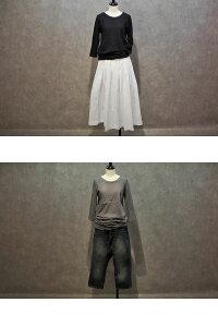 NARU(ナル)ムラ糸リサイクル天竺7分袖Tシャツ/68503