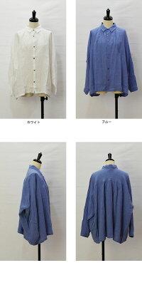 ICHIAntiquite's(イチアンティークス)リネンワッシャーシャツ/500901