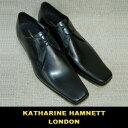 キャサリン・ハムネット   革靴   ビジネスシューズ   ロングノーズ スクエアトゥ   天然皮革   黒   24.5〜27.0   メンズ   1