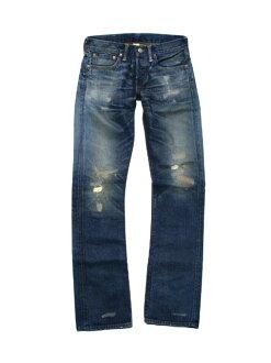 RRL double Aurel damage & Repair スリムブーツ cut jeans (MEDIUM WASH)