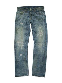 RRL double Aurel damage & Repair ローストレート jeans (MEDIUM WASH)