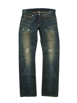 RRL double Aurel damage & Repair slim fit jeans (MEDIUM WASH)