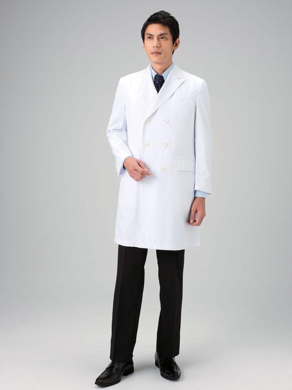 白衣 ドクターコート 男性用 ダブル ミズノ MIZUNO unite MZ-0026 診察衣