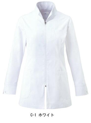 白衣 ハーフコート ミズノ MIZUNO unite MZ-0055 制菌加工 女性用 診察衣(mz-0055)