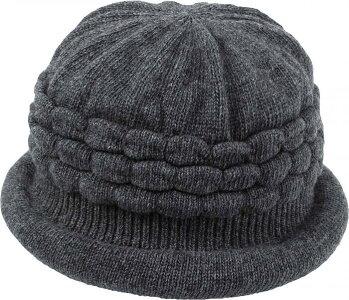 髪型ふんわり蓄熱ニット帽ダークグレー4969133251252【SN】