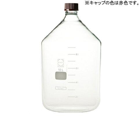 アズワン AS ONE ねじ口瓶 赤キャップ 10000ml 2-076-08 [A012024]