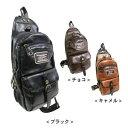 ボディバッグ ワンショルダー メンズ PU レザー 旅行 【MI】 鞄...