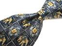 ブランド ネクタイ 【中古】GHERARDINI ゲラルディーニ 総柄 ネクタイ 良品 メンズ プレゼント 【,r62539,】