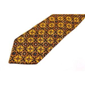 MCM MCM 이탈리아에서 만든 전체 패턴 옐로우 옐로우 실크 넥타이 브랜드 무료 배송 [중고] [좋은 상품]
