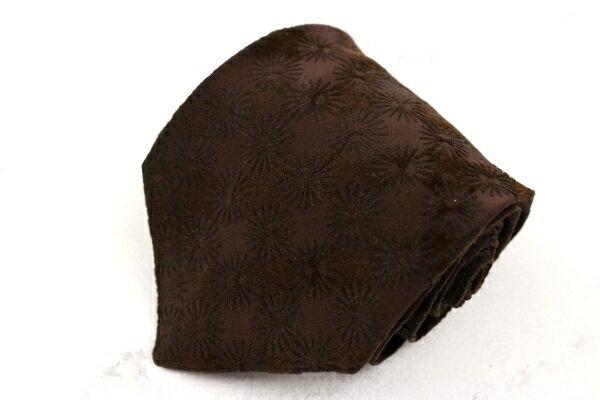 パルジレリ PAL ZILERI イタリア製 チェック柄 ブラウン シルク ブランド ネクタイ 送料無料 【中古】【美品】