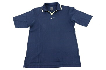 [美品] ナイキゴルフ NIKE GOLF Mサイズ ポロシャツ 半袖 ボタン無し ゴルフウェア スポーツ アウトドア メンズ 服 ネイビー ブランド古着 【中古】