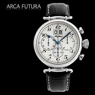 腕時計メンズ正規品ARCAFUTURAアルカフトゥーラクロノグラフ腕時計420WHBKメンズ腕時計