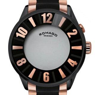 腕時計メンズ正規品ROMAGOロマゴナンバーデザインミラー文字盤RM007-0053SS-RGメンズ腕時計