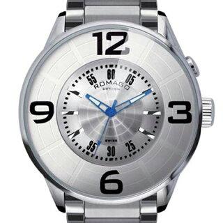 腕時計メンズ正規品ROMAGOロマゴナンバーデザインミラー文字盤RM007-0053SS-SVメンズ腕時計