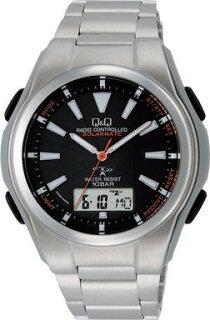 腕時計メンズシチズン製Q&Qソーラー電波時計世界5局対応MD02-202メンズ腕時計シチズン