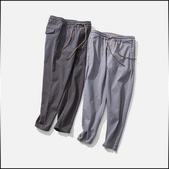 男式褲子底部加長型固體 drost 規格圓錐千野忠男褲款式簡單男士休閒長褲