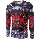 期間限定 Tシャツ メンズ トップス 長袖 クルーネック プリント デザイン インナー プルオーバ スリム カジュアル メンズファッション ロンT 大きいサイズ ※fu