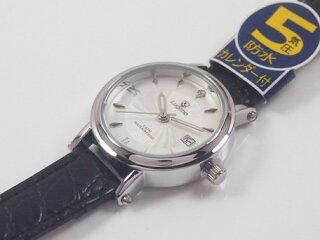 腕時計レディースレディース小物Luganoルガノレディース腕時計PUレザーベルト日本製ムーブメントカレンダー表示5気圧防水