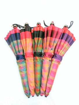 折り畳み傘 レディース 傘 雨傘 折畳傘 婦人 甲州産 先染 朱子格子 コンパクト骨 日本製 国産 折畳雨傘 ファッション雑貨 小物 折りたたみ傘 女性用 ※fu