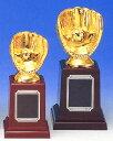 ゴールデングラブ賞に♪トロフィー:野球グラブ型ブロンズトロフィー(高さ155mm)【30%OFF】[...