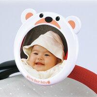 ダイヤベビーミラーシロクマ|ベビーカー車赤ちゃんミラー安全確認可愛い便利