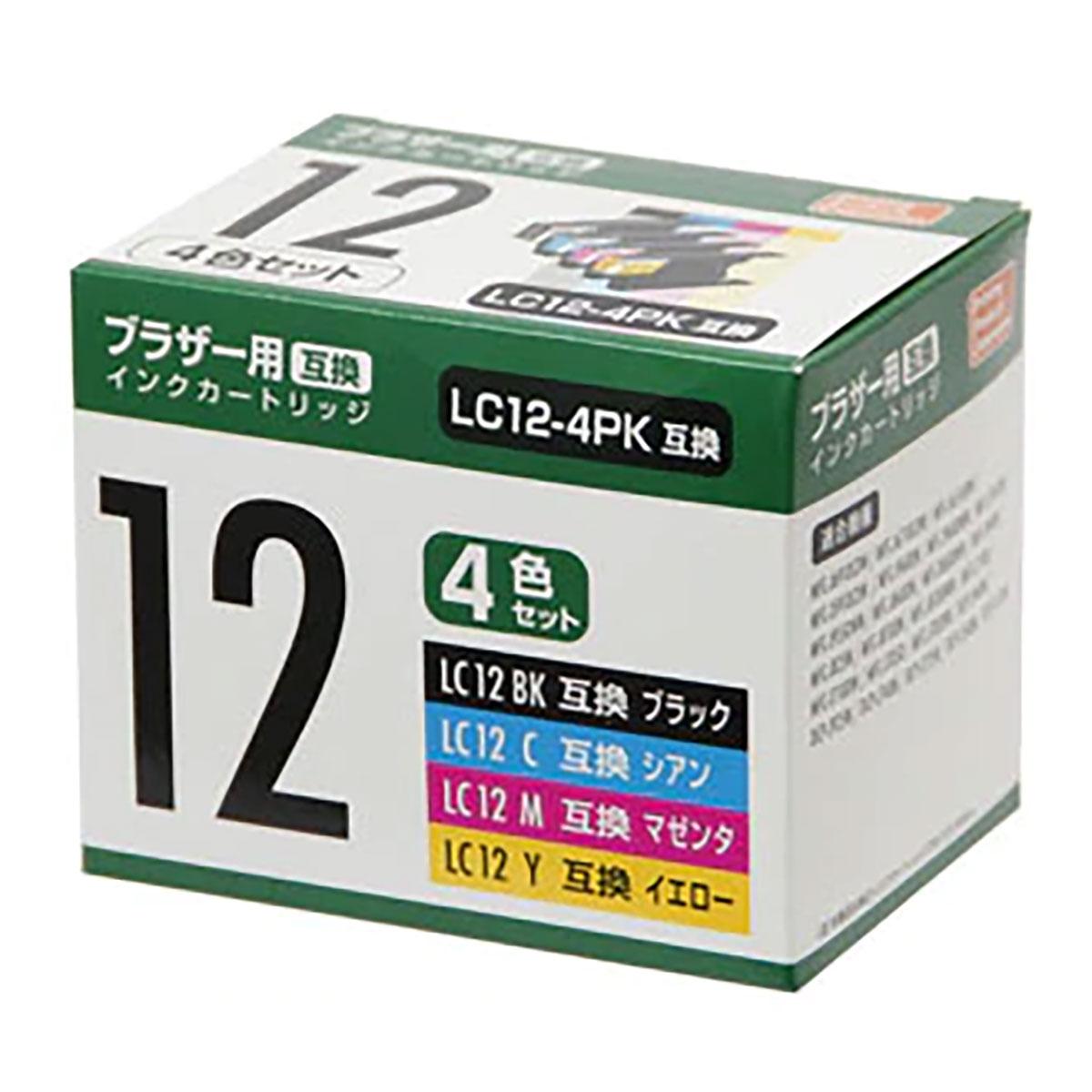 PCサプライ・消耗品, インクカートリッジ 10!! (Brother) LC12-4P41 10:0051 09:59