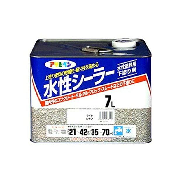 アサヒペン水性シーラーライトレモン7L
