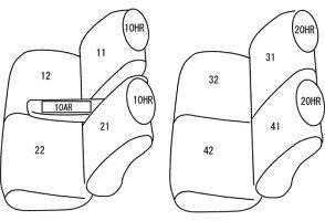 3c09a301d01f タント シートカバー L350S L360S H15/11-H19/12 クラッツィオセンターレザー Clazzio/クラッツィオ (ED-0670  タント シートカバー 下記適合条件要確認