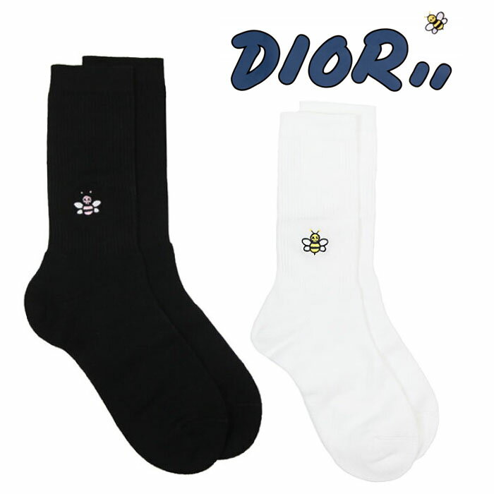 靴下・レッグウェア, 靴下  SALE DIOR HOMME X KAWS BEE EMBROIDERED SOCK2923MC07WT948