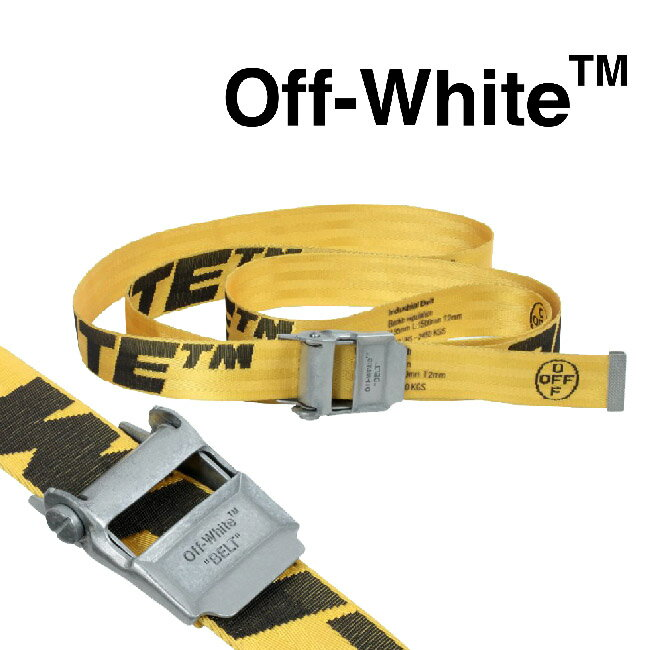 ベルト・サスペンダー, メンズベルト OFF-WHITE 2.0 INDUSTRIAL BELT 2.0 YELLOW BLACK)OMRB012F19F420286010