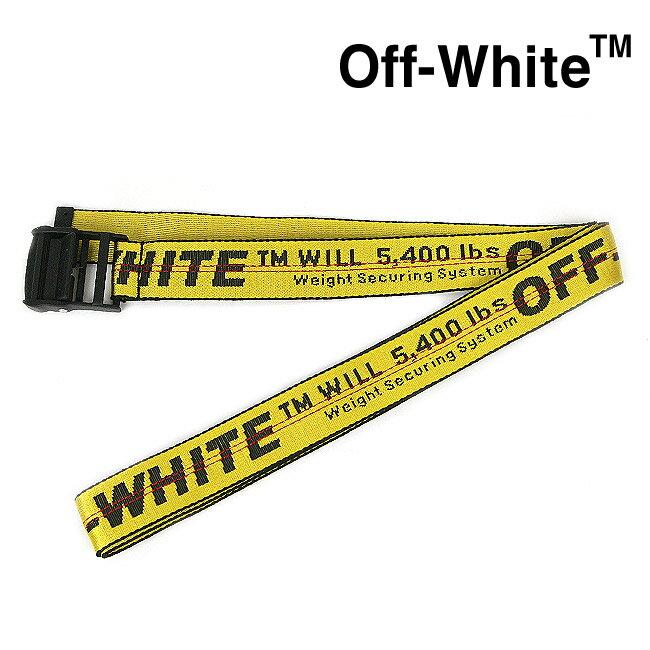 ベルト・サスペンダー, メンズベルト OFF-WHITE INDUSTRIAL BELT YELLOW BLACK)OMRB012E196470026000-O MRB012F19647003