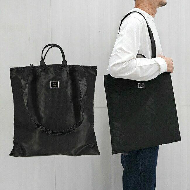 メンズバッグ, トートバッグ  Acne Studios FACE TOTE BAG (900 BLACK)CI0096-FA-UX-BAGS00002 1