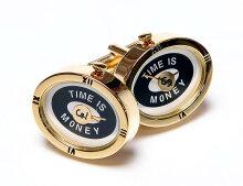 ★WATCH時計のカフスボタン★カフスボタンONYX-ARTLONDONCLM_45OVALTIMEISMONEYタイムイズマネー!これマジで動きます一年間保証付き・・♬~