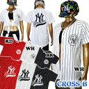YankeesベースボールTシャツ (A1261)CROSS...