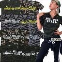 迷彩/カモフラレースアップTシャツ(A1468)CROOS-B