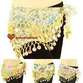 ベリーダンス衣装かわいい衣装珍しいヒップスカーフ花柄ヒップスカーフ