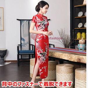 チャイナドレスのコスプレ衣装、ナント3泊4日で500円!洗濯不要で買うより楽エコ!大きいサイズもあり・男性可M〜4XL