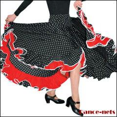 【期間限定特価】【Sansha】サンシャ フラメンコスカートD0914 ≪フラメンコ衣装、スカート、 ファルダ、ダンス用品≫