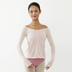 【サンシャ】SanshaVネックセーター(M・Lサイズ)KVT9【サンクス賞対象】《バレエ用品、ウォームアップ、トップス、バレエレオタード、ジュニア、ダンス用品》