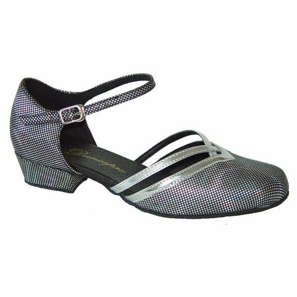 ダンスシューズ・社交ダンスシューズ・レディース【セミオーダー】女性兼用シューズ・シルバー・ラメ888106セミオーダー品ですのであなたにぴったりの1足がつくれますよ♪