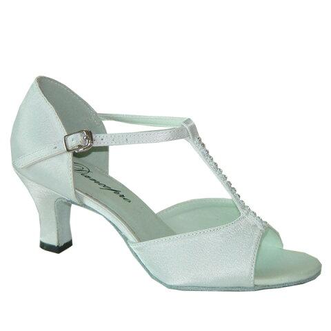 ダンスシューズ・社交ダンスシューズ・レディース【セミオーダー】女性ラテンシューズ・白ホワイト160917セミオーダー品ですのであなたにぴったりの1足がつくれますよ♪