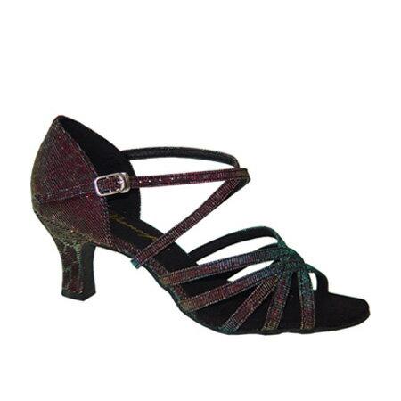 ダンスシューズ・社交ダンスシューズ・レディース【セミオーダー】女性ラテンシューズ・玉虫・ラメ161307セミオーダー品ですのであなたにぴったりの1足がつくれますよ♪