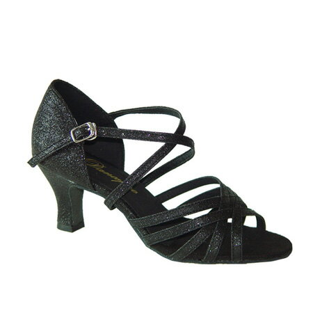 ダンスシューズ・社交ダンスシューズ・レディース【セミオーダー】女性ラテンシューズ・黒ブラック161308セミオーダー品ですのであなたにぴったりの1足がつくれますよ♪