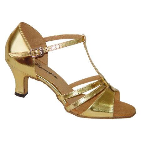 ダンスシューズ・社交ダンスシューズ・レディース【セミオーダー】女性ラテンシューズ・ゴールド168302セミオーダー品ですのであなたにぴったりの1足がつくれますよ♪