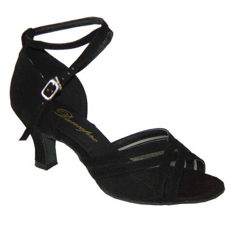 ダンスシューズ・社交ダンスシューズ・レディース【セミオーダー】女性ラテンシューズ・黒ブラック160308セミオーダー品ですのであなたにぴったりの1足がつくれますよ♪
