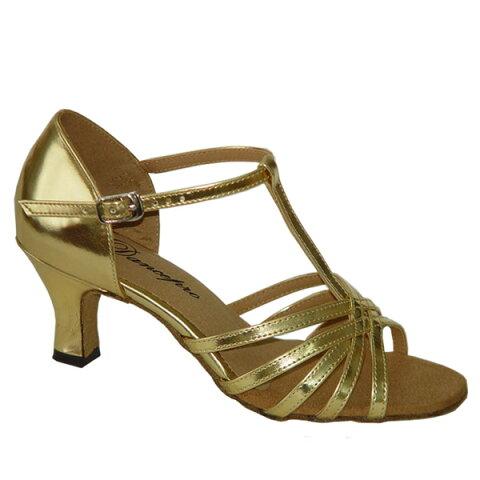 ダンスシューズ・社交ダンスシューズ・レディース【セミオーダー】女性ラテンシューズ・ゴールド161201セミオーダー品ですのであなたにぴったりの1足がつくれますよ♪