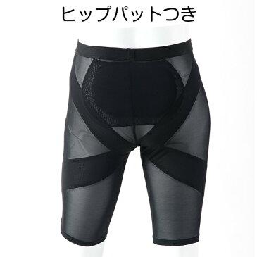 【新入荷】メンズ ダンス サポーター インナーパンツ ヒップパッド付き ブラック 三分丈 GM004 MATSUYA メンズ サポート スパッツ ヒップパッド 着脱式 黒